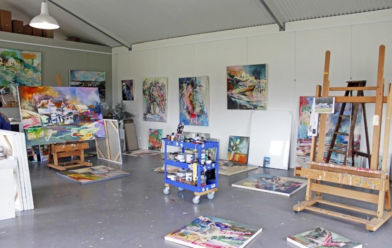 Catheirne Stewart's artist studio, Beechworth Victoria