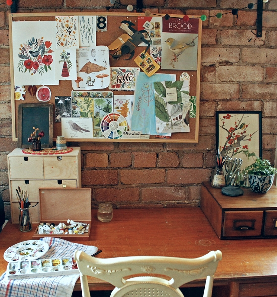 Amelia Herbertson's studio, Orange NSW, 2014.