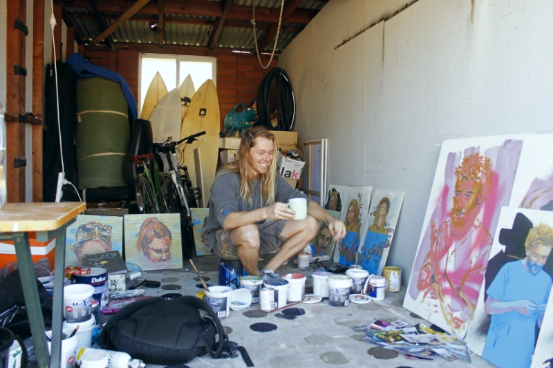 Alexander Ball in his studio, Newcastle, NSW