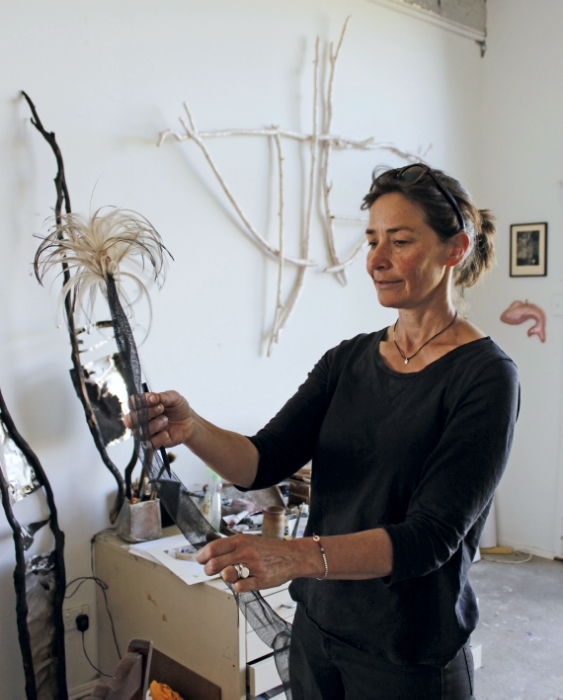 Tonya Graham in her studio, Milthorpe NSW
