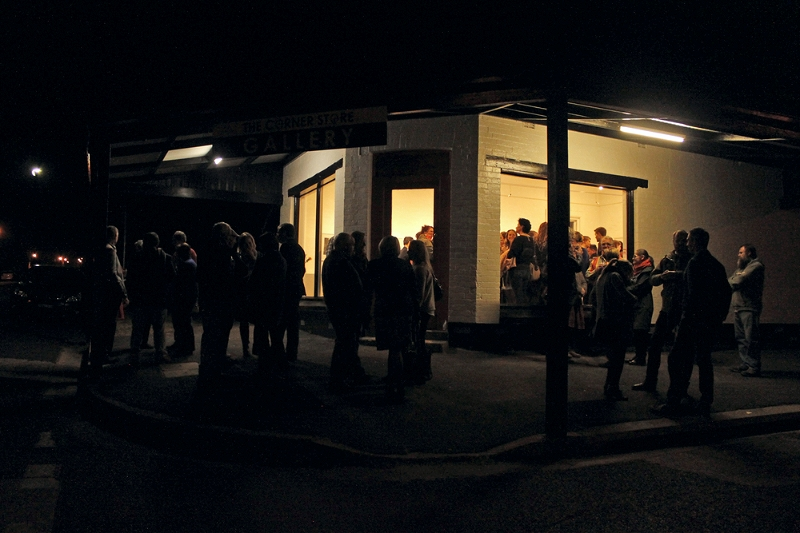 The Corner Store Gallery official opening night in August 2014.