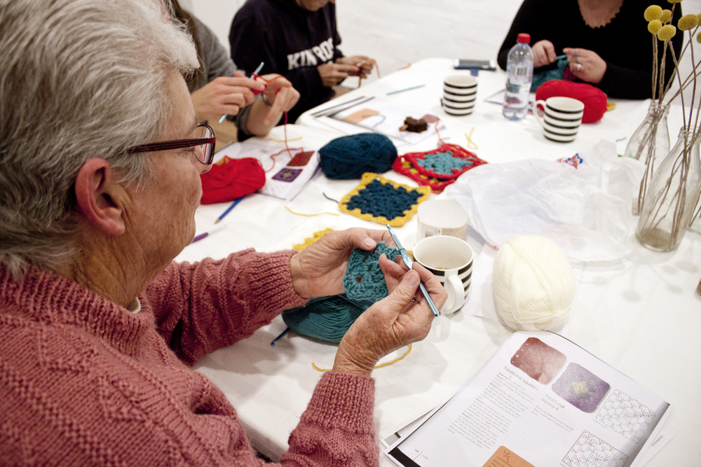 Beginner Crochet Workshop - The Corner Store Gallery, Orange NSW, photograph by Madeline Young