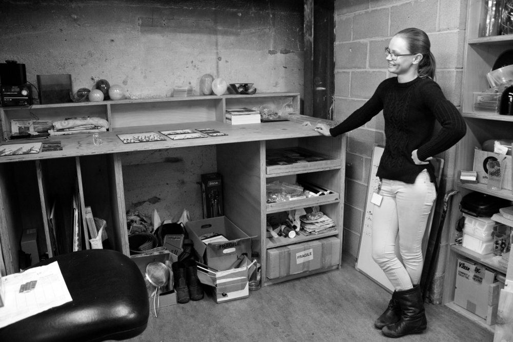 Australian Artist Christine Atkins, studio visit, The Corner Store Gallery, photograph by Madeline Young