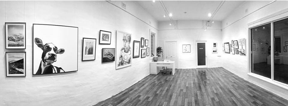 Black and White - Group Exhibition, July 2016, The Corner Store Gallery, Orange NSW, photograph by Madeline Young