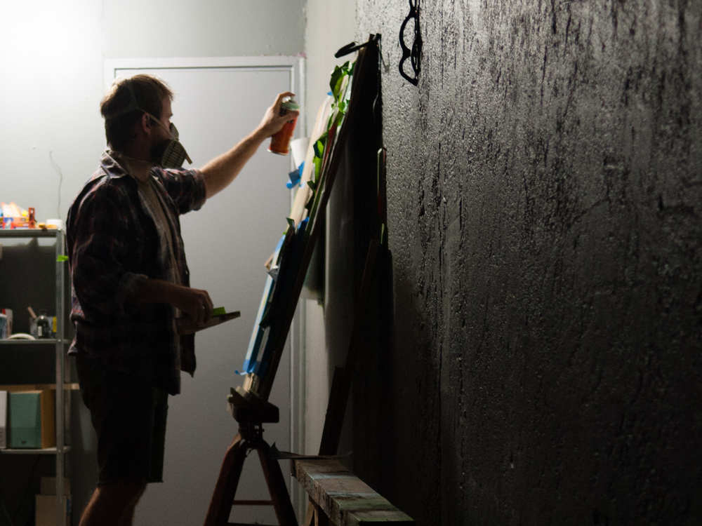 Australian Artist Ben Foster, The Corner Store Gallery, photograph by Emma Smallwood