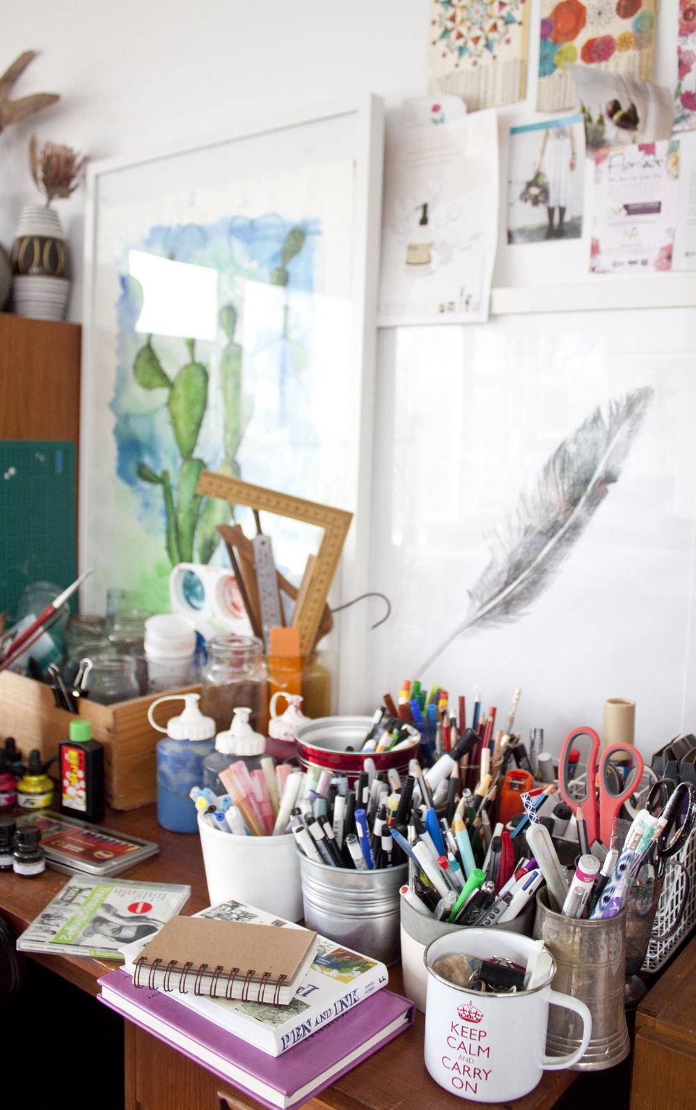 Australian artist studio visit Shani Nottingham - The Corner Store Gallery