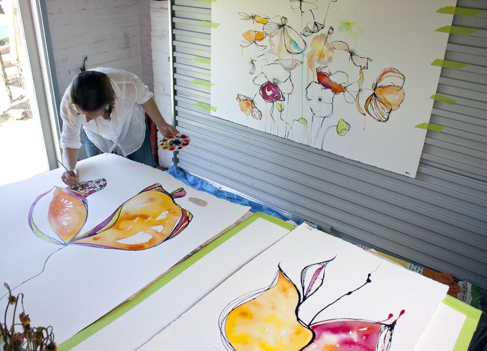 Australian artist studio visit Fiona Chandler - The Corner Store Gallery