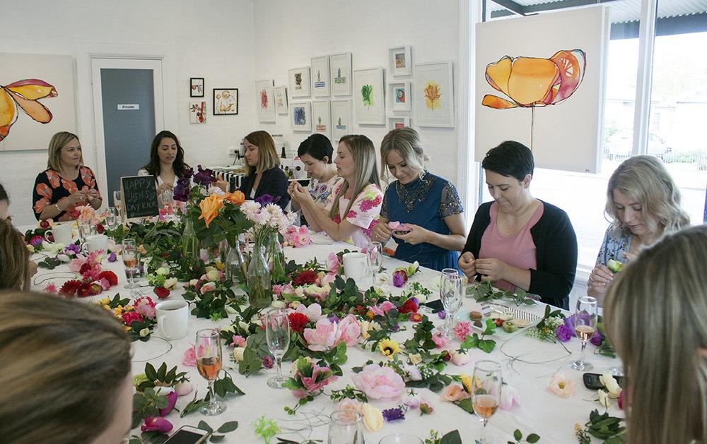Spring Flower Crown Hens' Party - The Corner Store Gallery, Orange NSW