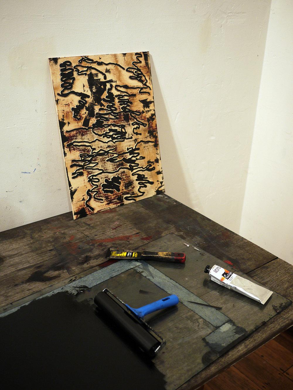 Ben Foster Australian artist studio visit - The Corner Store Gallery