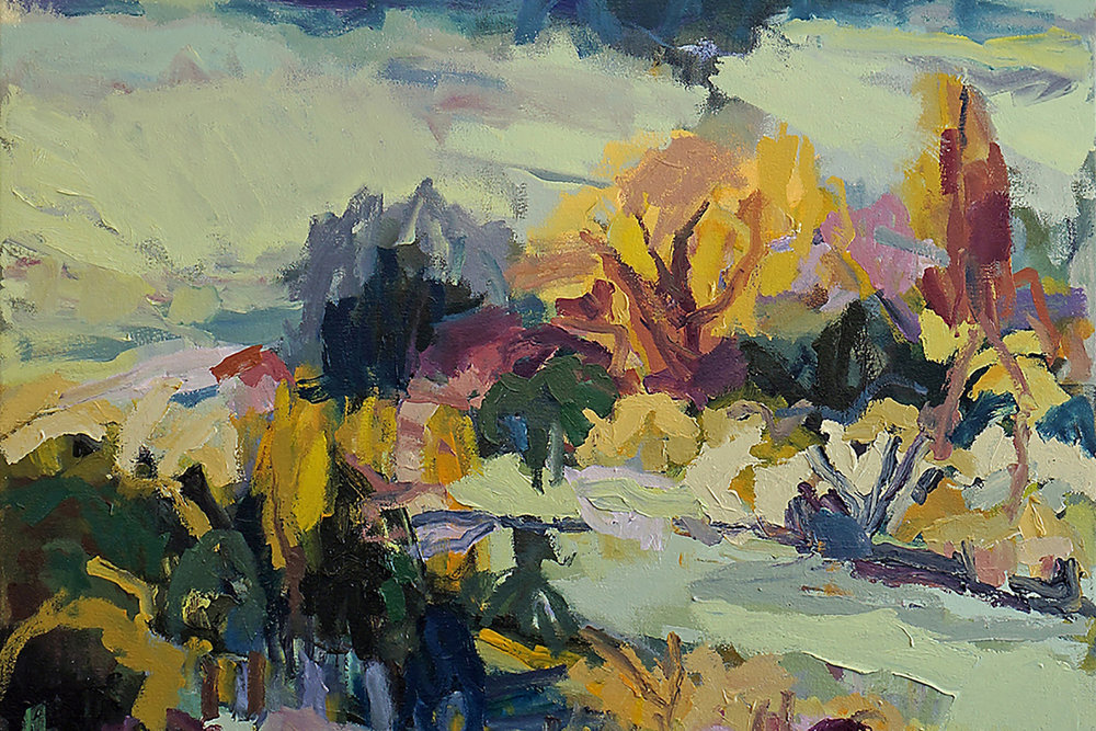 Belinda Street, Vineyard in Orange, oil on canvas