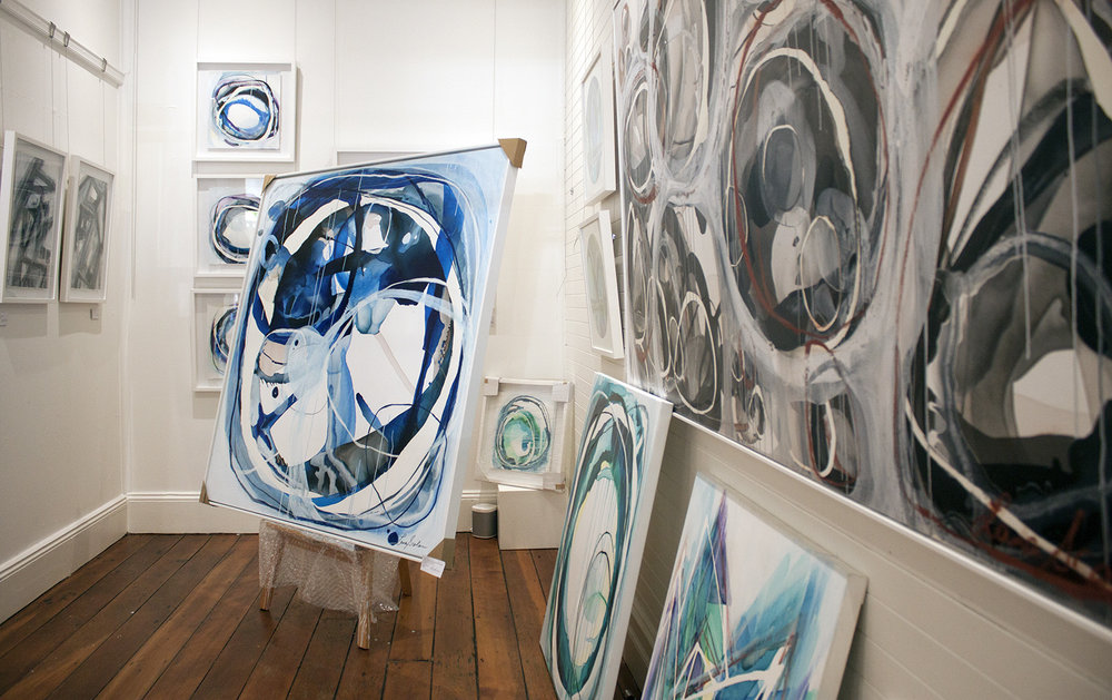 Australian Artist Lara Scolari studio visit - The Corner Store Gallery, Orange NSW