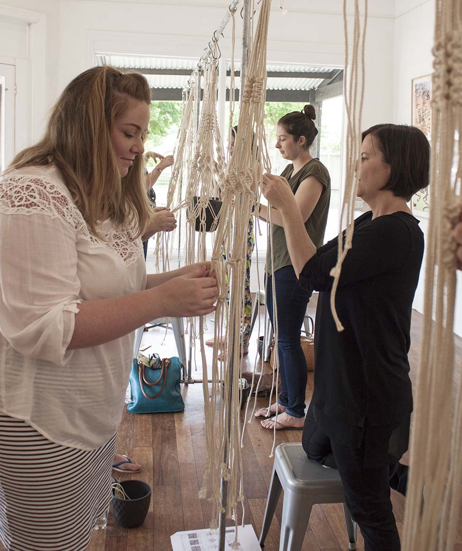 Macrame Planter Workshop - The Corner Store Gallery, Orange NSW
