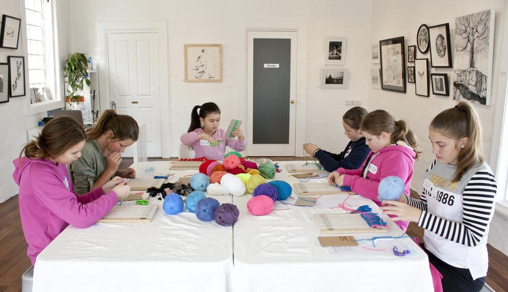 Kids Weaving Workshop - The Corner Store Gallery