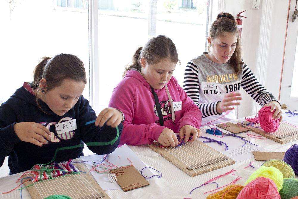 Molong Kids Weaving Workshop - Madeline Young