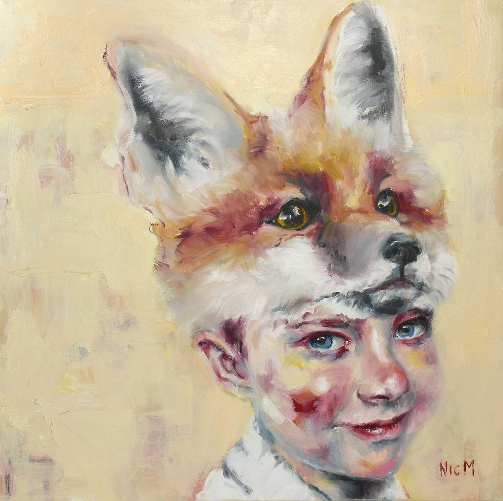 """Fox No. 2"" Nic Mason - The Corner Store Gallery Portraits Group Exhibition"