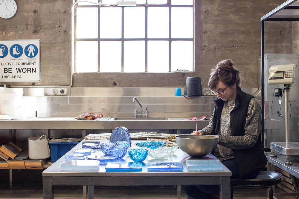 The Corner Store Gallery - studio visit with glass artist Alexandra Frasersmith