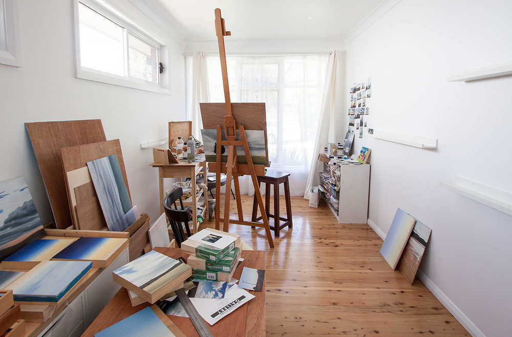 Studio visit and Interview with Australian landscape painter Fiona Barrett-Clark - The Corner Store Gallery