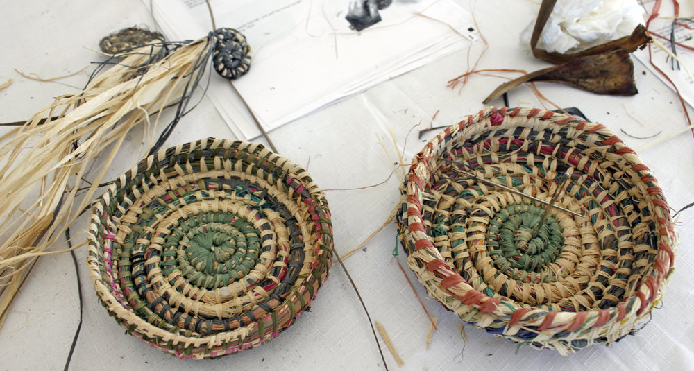 The Corner Store Gallery, basket weaving workshop with Lanny Mackenzie