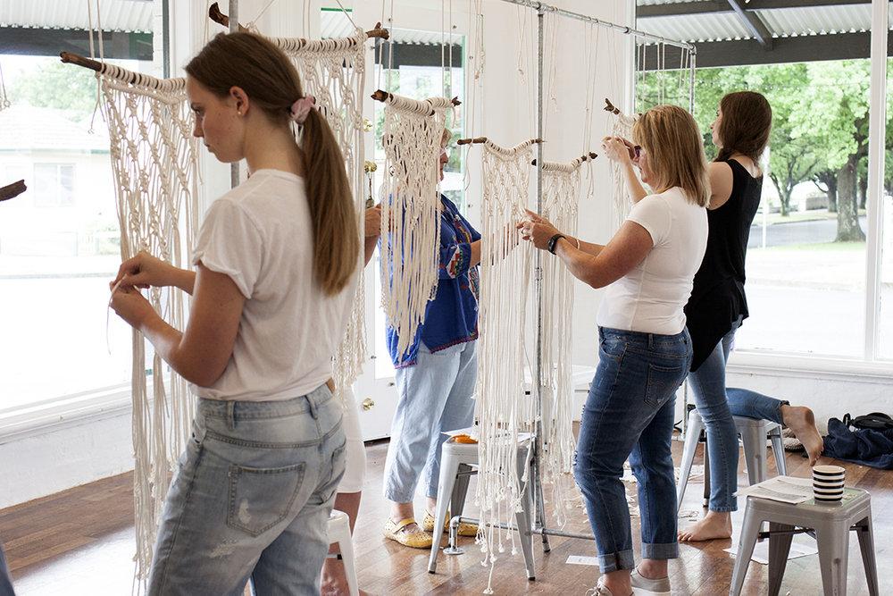 The Corner Store Gallery - Macrame Workshop