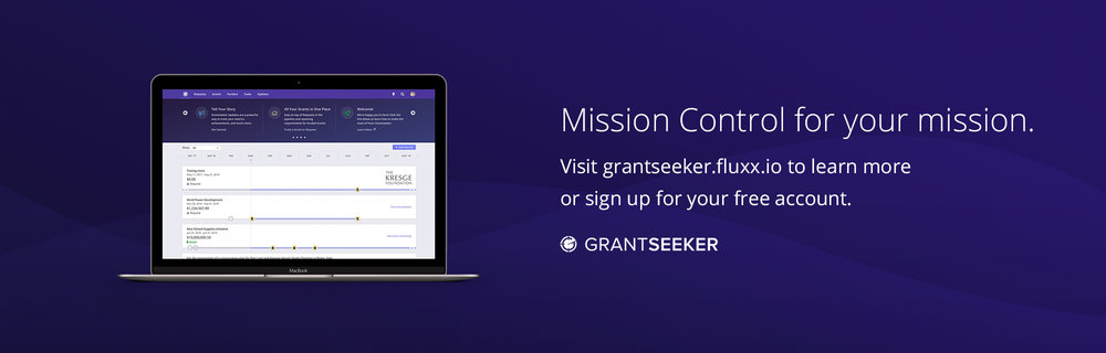 "A Grantseeker banner ad I made for our ""Mission Control"" soft launch. Marketing collateral... oh yeah!"