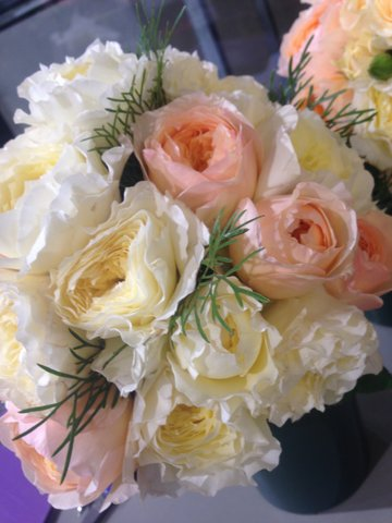 David Austin roses bouquet