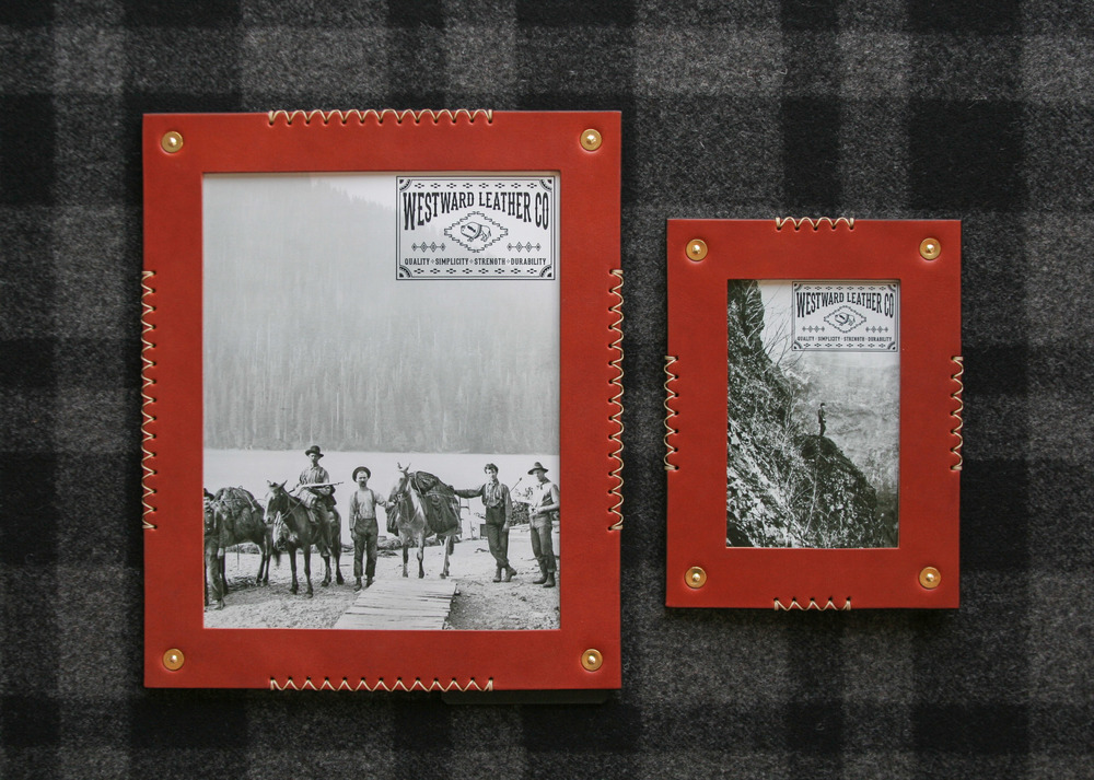 Finishing up some new products, some exclusive, for the well respected brand of C.C. Filson.  Our Westward products, such as the Kinsey Photo frames shown here, will be housed in the new Filson Flagship store, opening this 2015 Holiday Season.