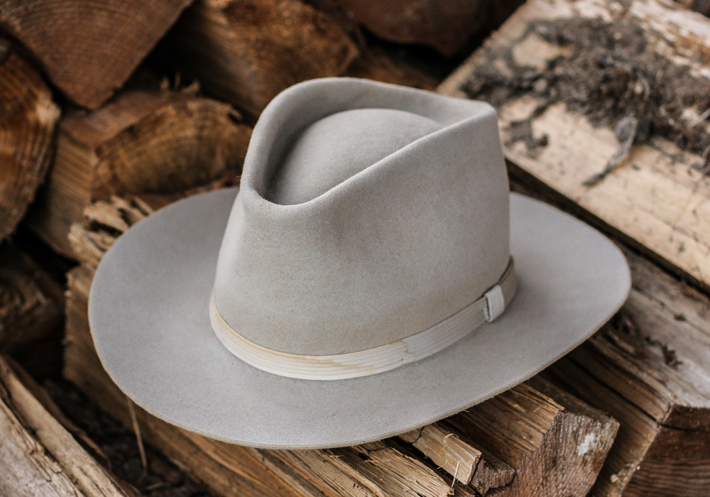 1950's Hobbs Western in Silver Belly.  Reblocked, trimmed, and reshaped.  Westward Leather Co. will begin restoring vintage hats over the next months, and offering them for sale here on our site for starters.  Stay tuned for updates in that category!