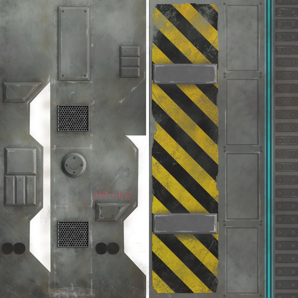 3d Floor Panels : Wip sci fi textures — ashley riza d artist
