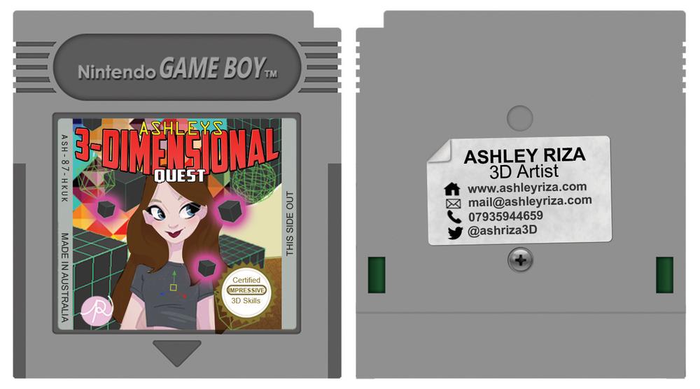 Game Boy Cartridge Business Cards! — Ashley Riza | 3D Artist