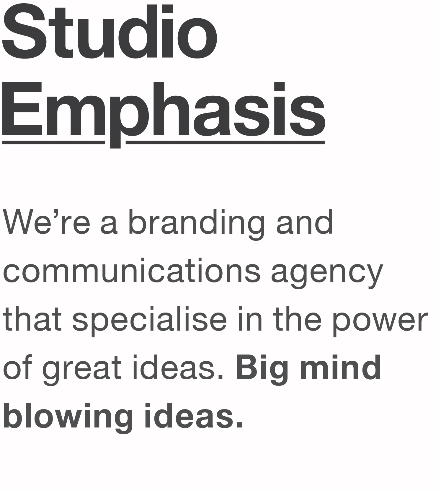 Studio Emphasis