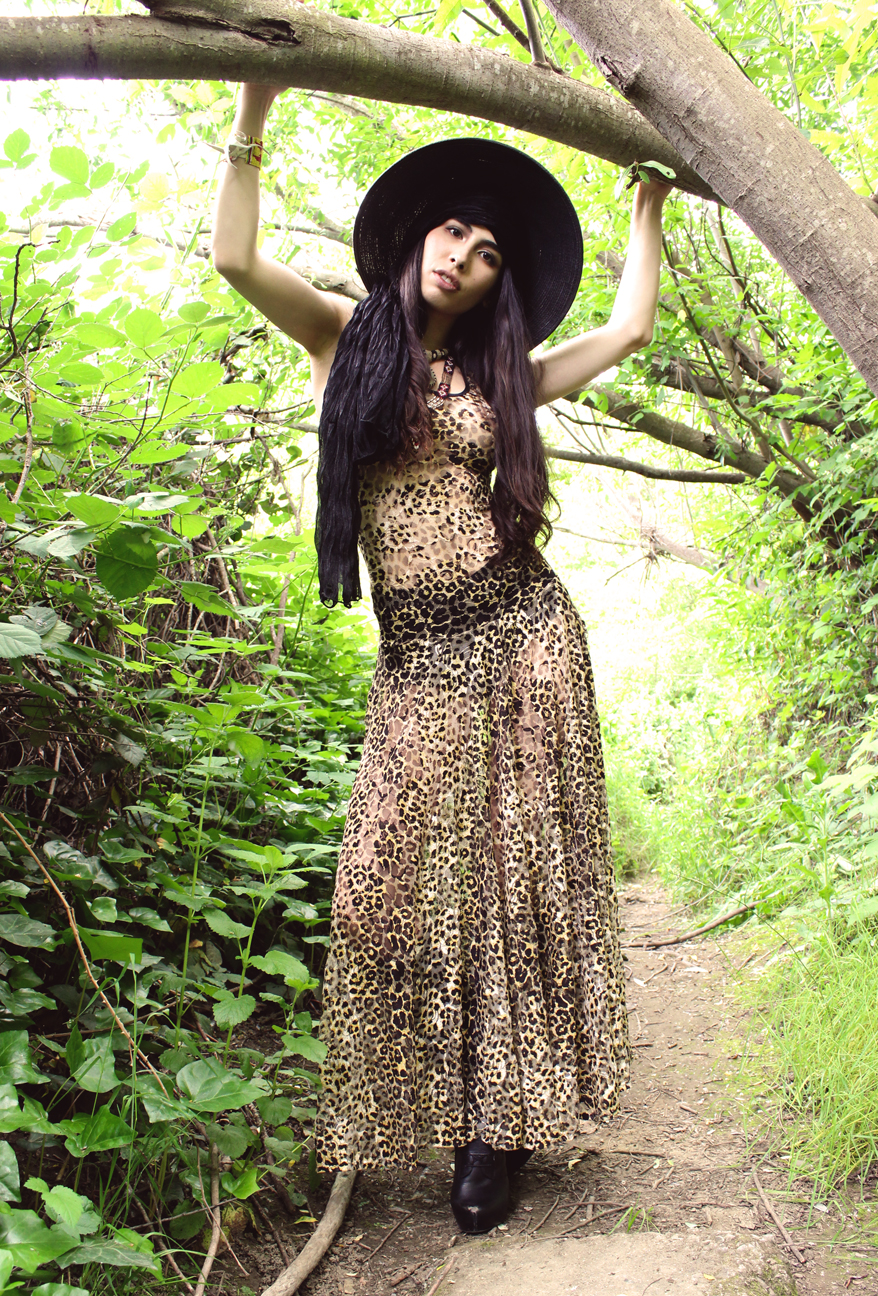 Muheeka Princess Dress in Leopard Lace
