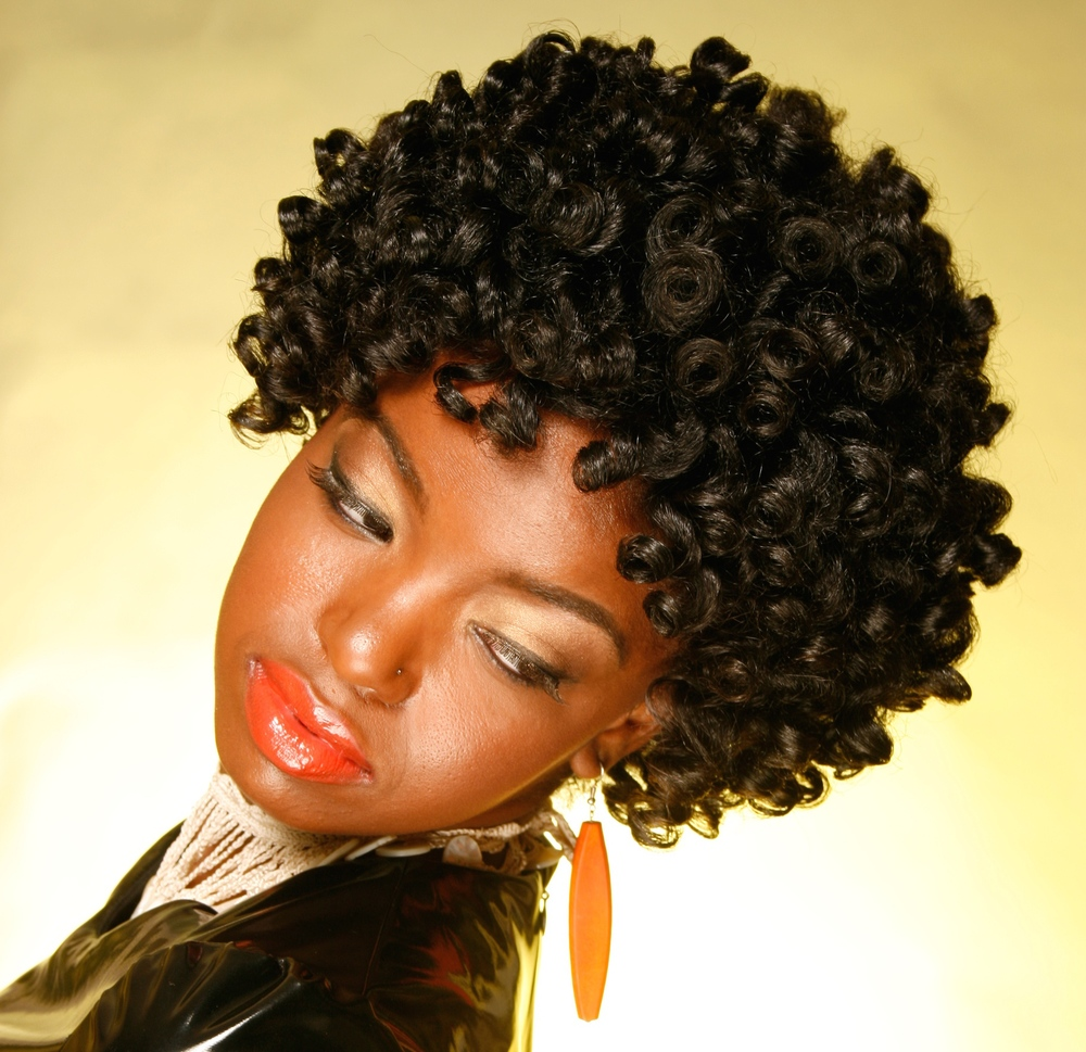 Short Thick Faux Bantu Knot Out Set