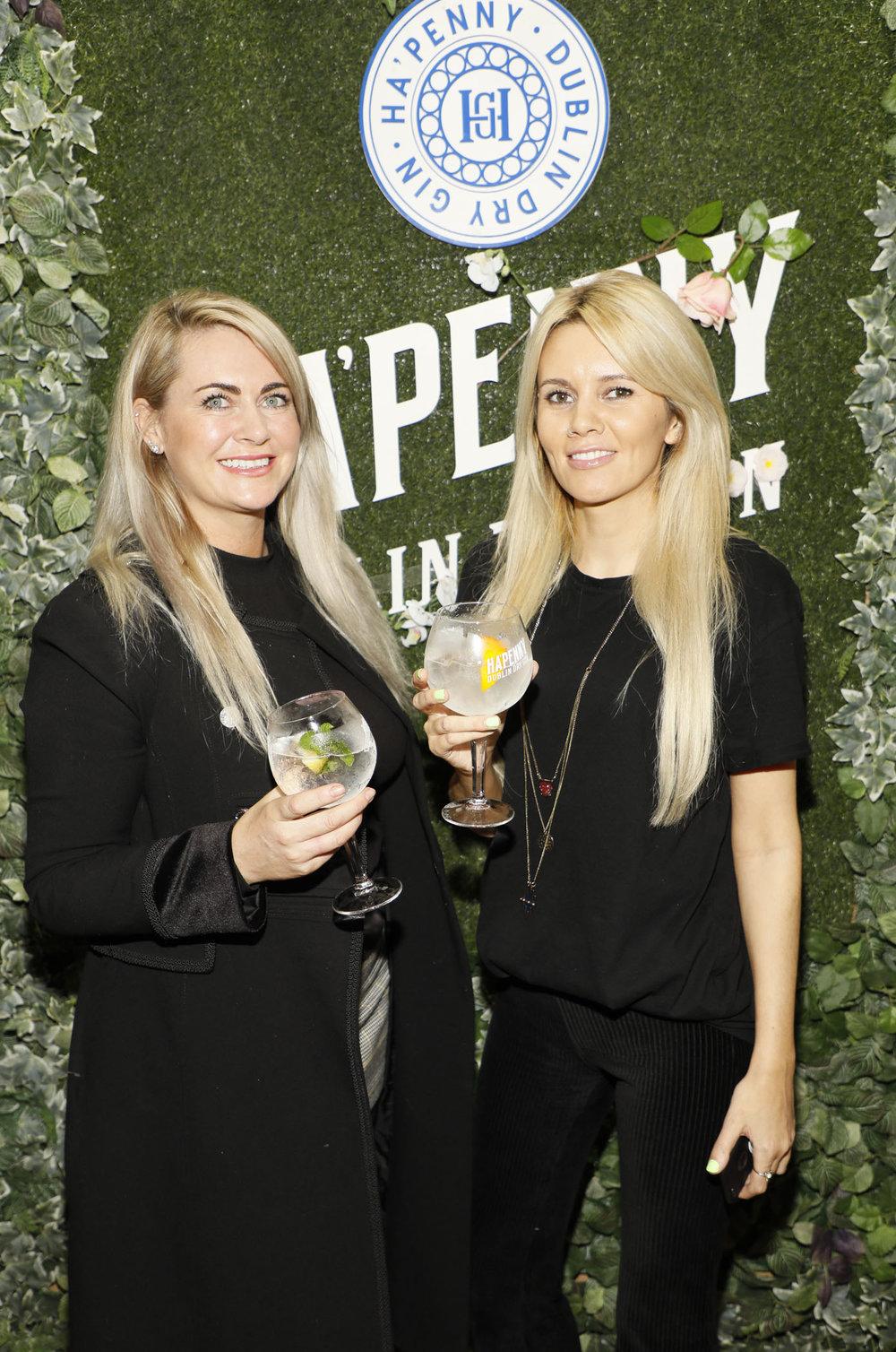 Anita Donoghue and Sarah Maher at the launch of the Ha'penny Spirits range.jpg