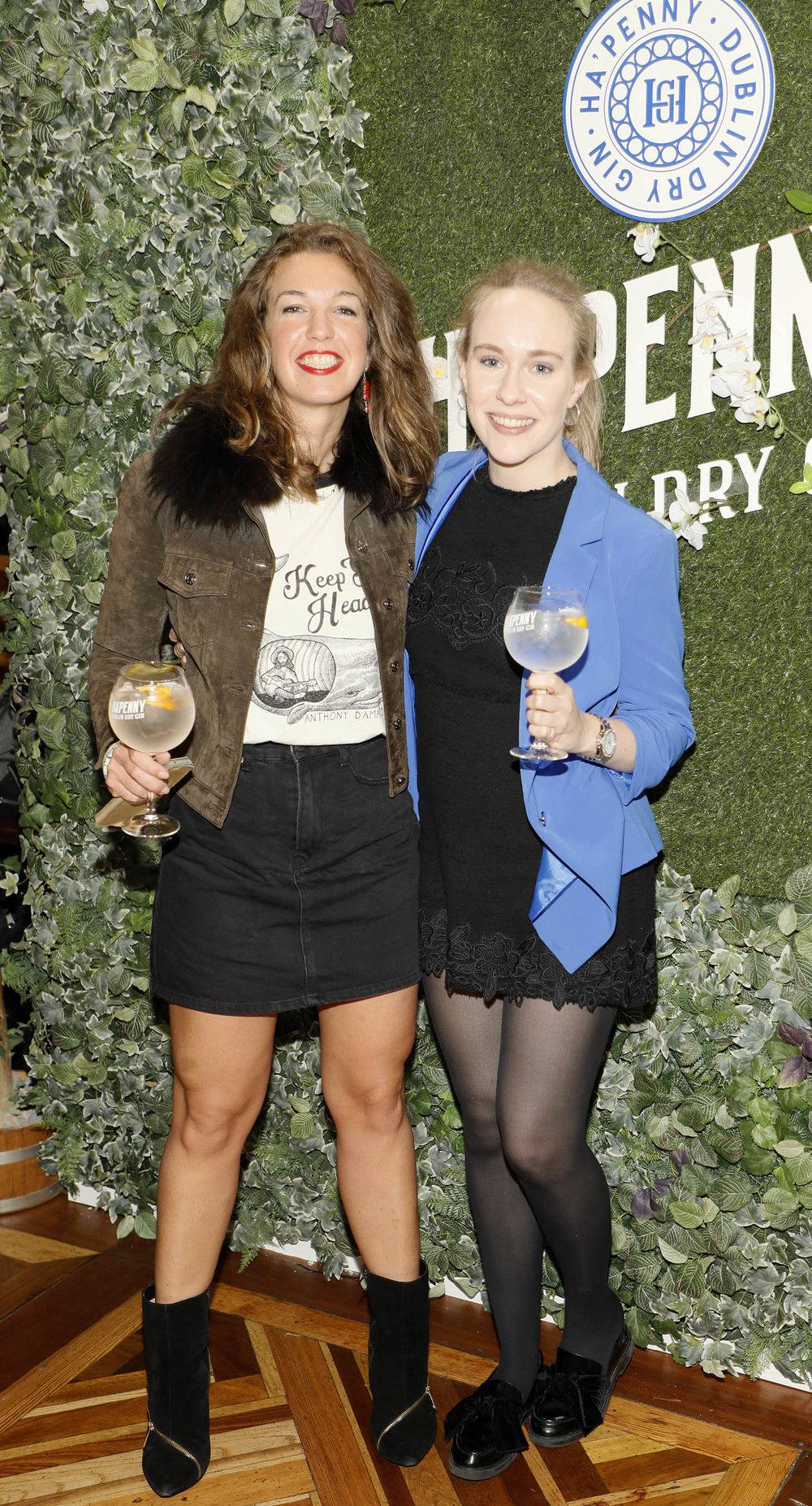 Glenda Benedetti and Rachel Byrne at the launch of the Ha'penny Spirits range.jpg