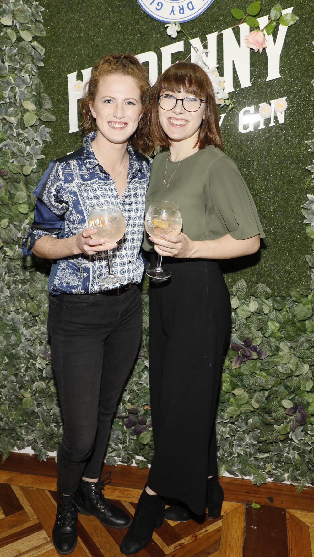 Katie Doyle and Gillian Sullivan at the launch of the Ha'penny Spirits range.jpg