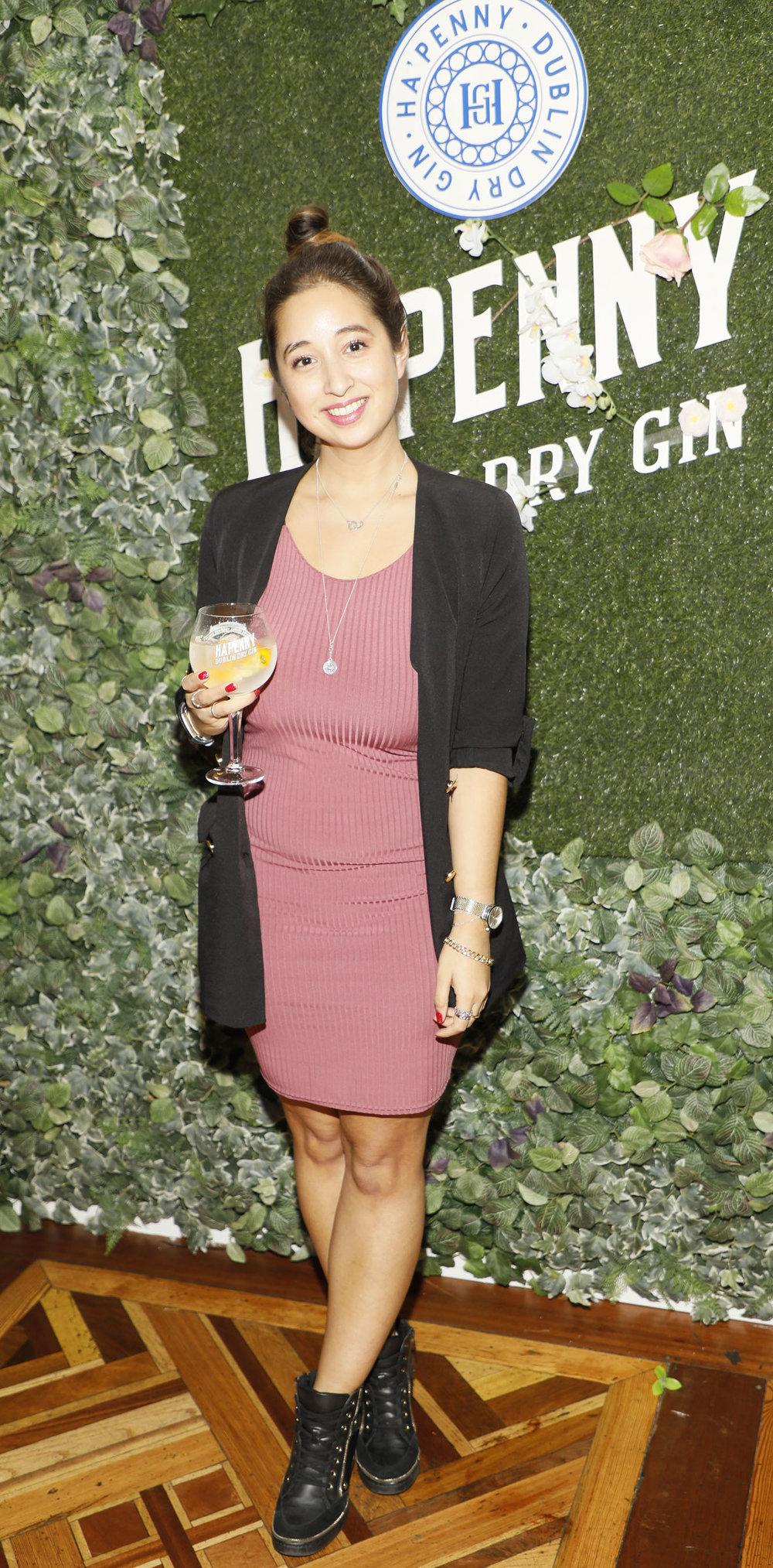 Nirina Plunkett at the launch of the Ha'penny Spirits range.jpg