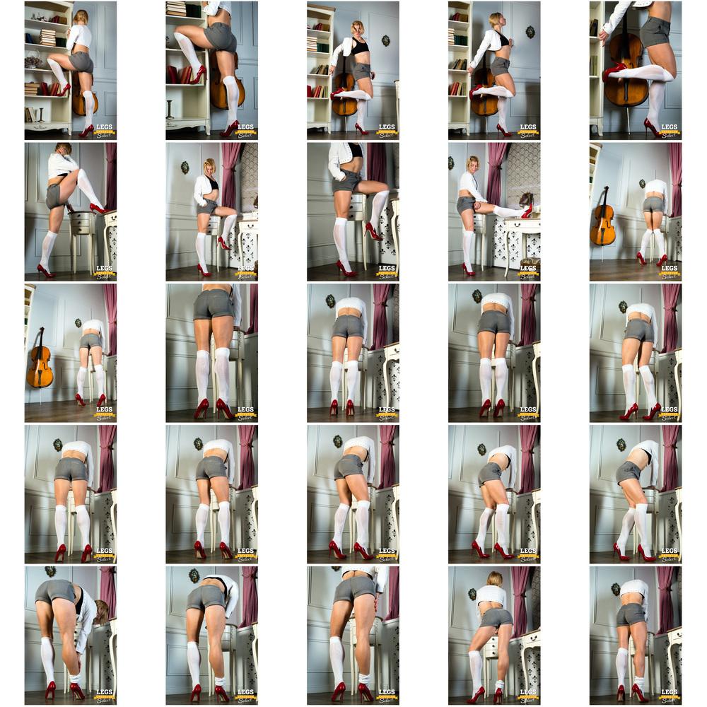 Annie - Knee Socks, Muscular Calves - 1.jpg