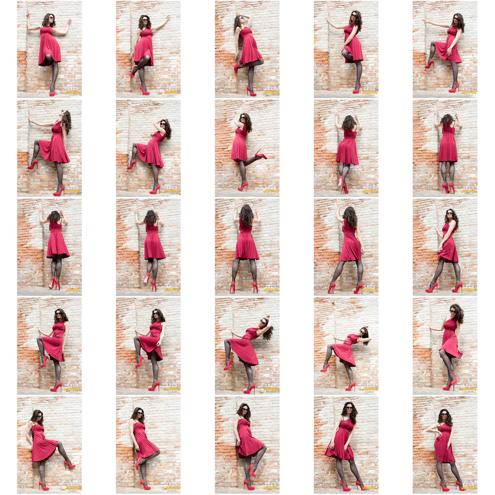 Elena - Red Dress, Black Stockings, Colorful Wall 1.jpg