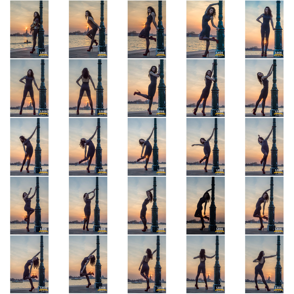 Elena - Venice Sunset with the Legs Goddess 1.jpg