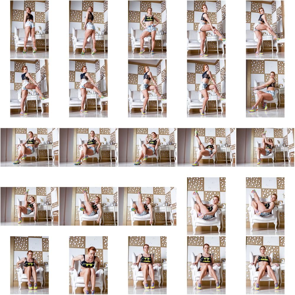Alena Chumakova - Hamstring Booty in Denim Shorts 2.jpg