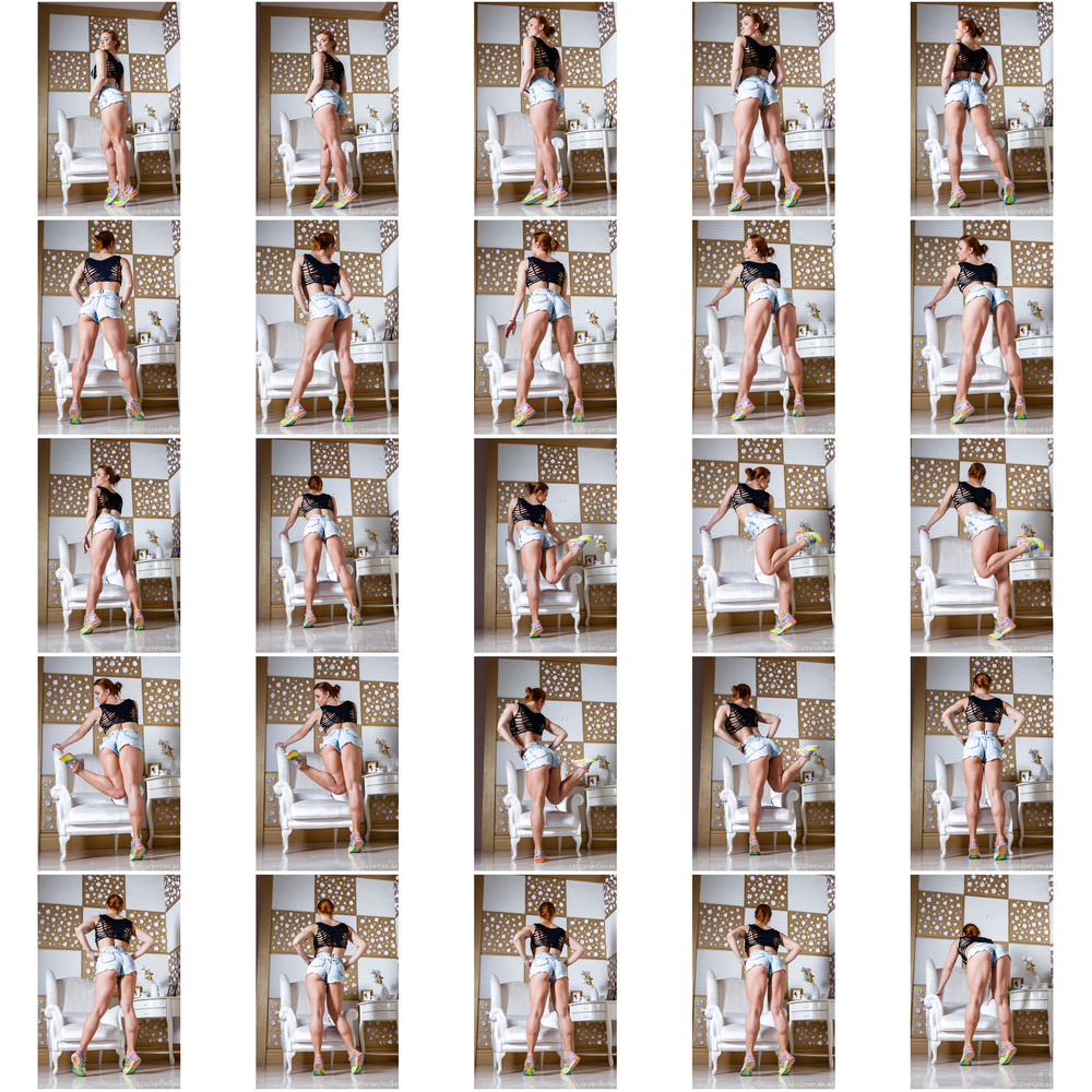 Alena Chumakova - Hamstring Booty in Denim Shorts 1.jpg