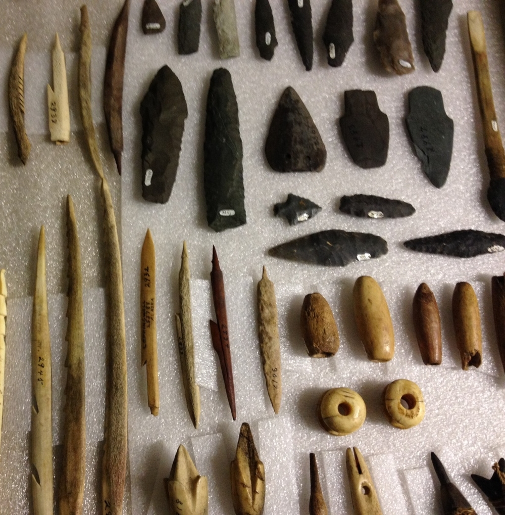 Selection of Inuit tools