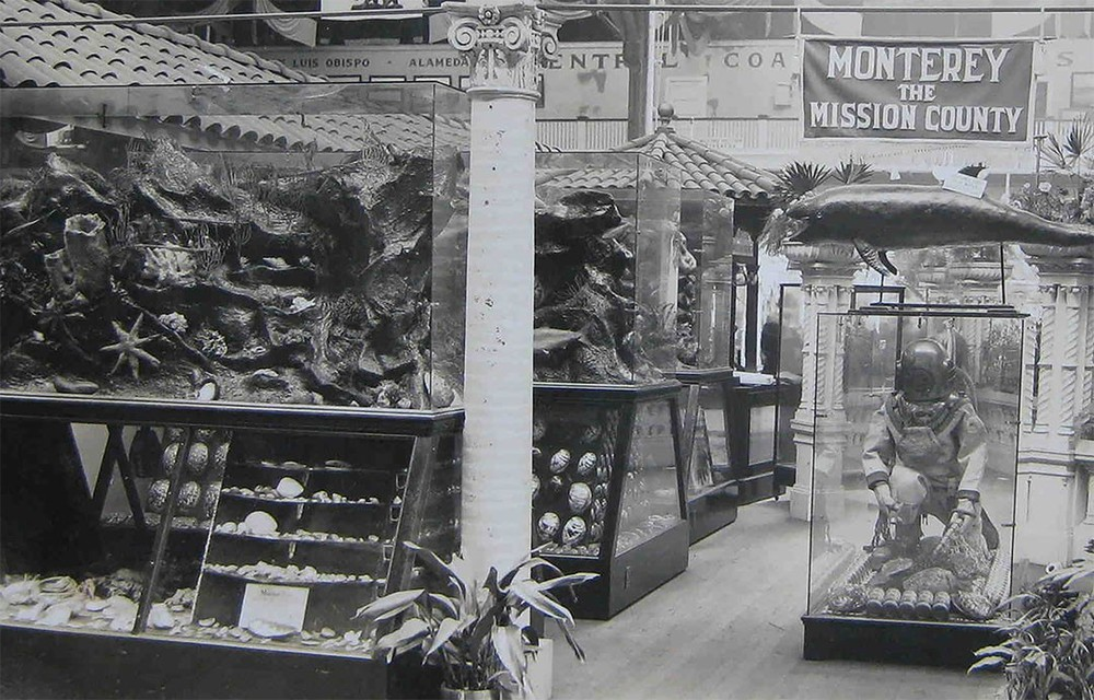 A view of Monterey County's exhibit at the 1915 PPIE.