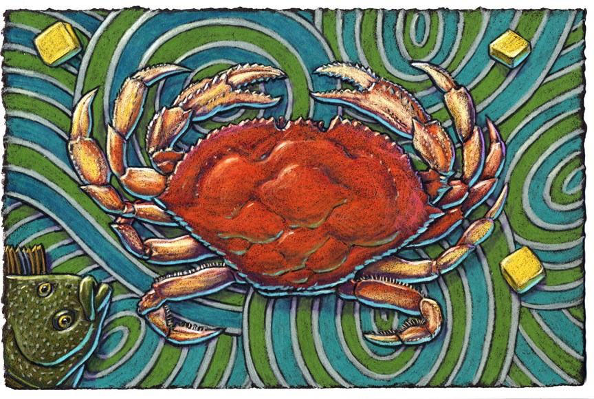 "When serving dinner to some guests Give them the crab called Dungeness Serve it with butter And they shall surely utter ""By gosh, this crab is the best!"""