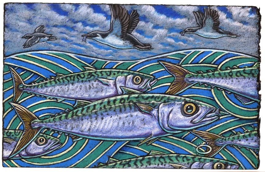 "If Mackerels were holy would they fly in the sky?    Amazing us all, ""That's stupendous!"" we'd cry    Their halos no doubt    Would shine all about     Causing onlookers to cover their eyes."