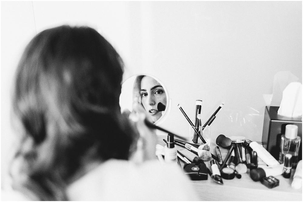Making-Off der Braut