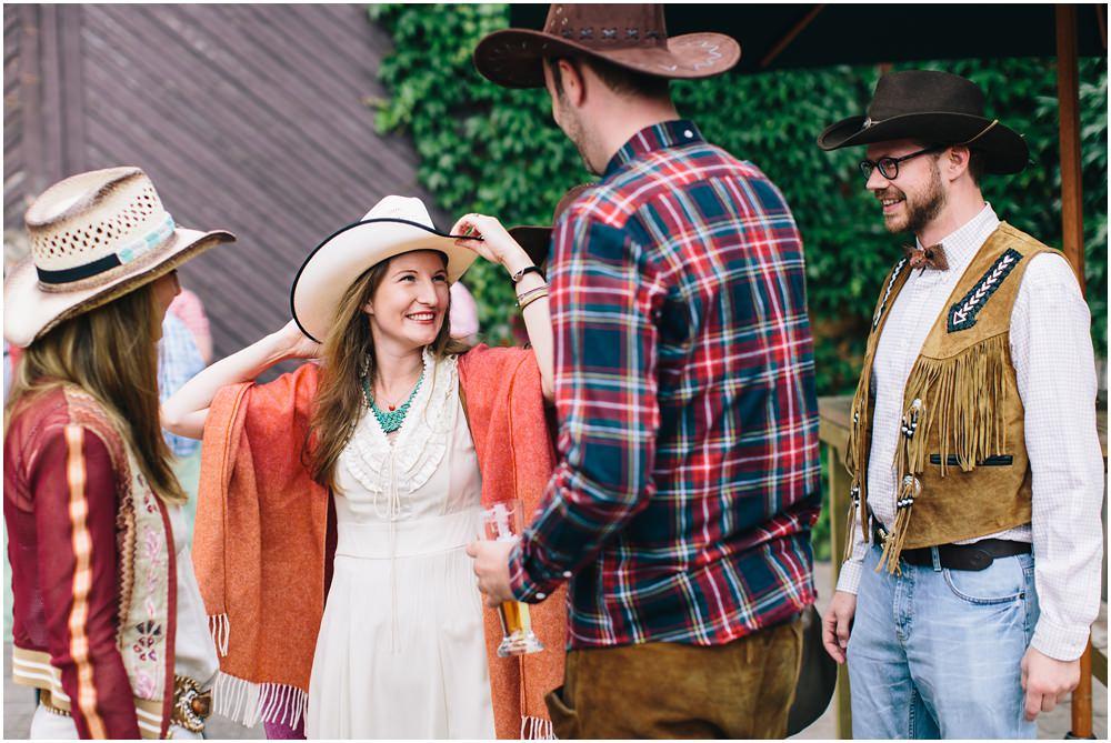 Braut im Countrylook