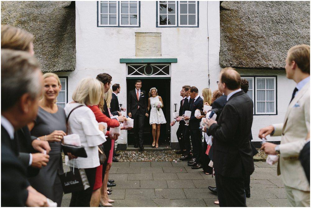 Empfang des Hochzeitspaares