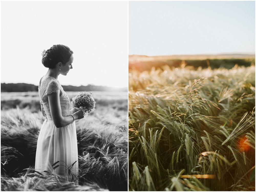 Braut im Ährenfeld