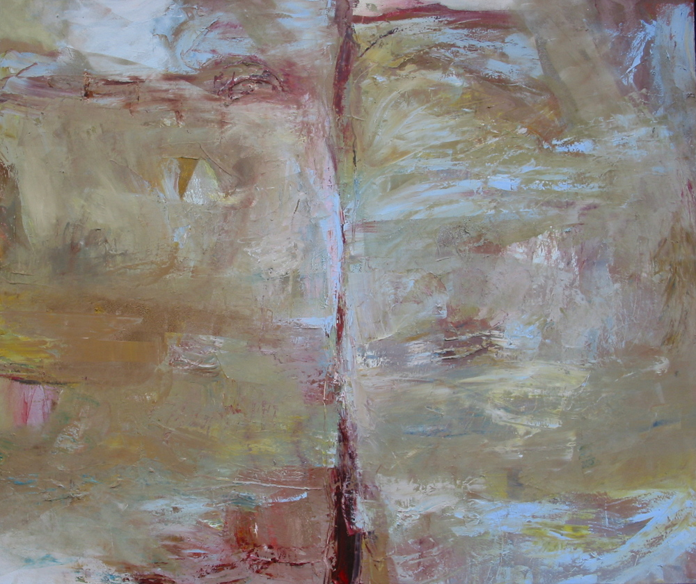 """Divide , oil on canvas, 54""""H X 64""""W (2008)"""